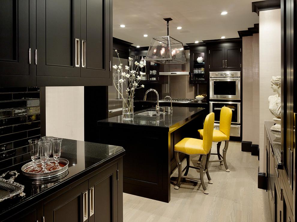 Black wood kitchen cabinets design ideas - Black and wood kitchen ...