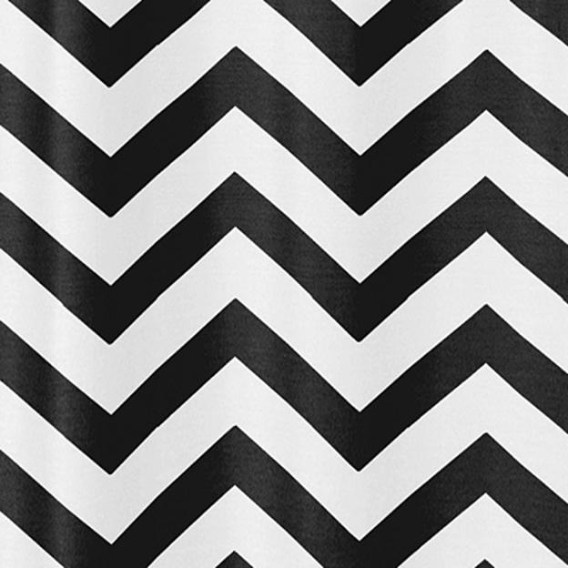 White And Black Zig-Zag