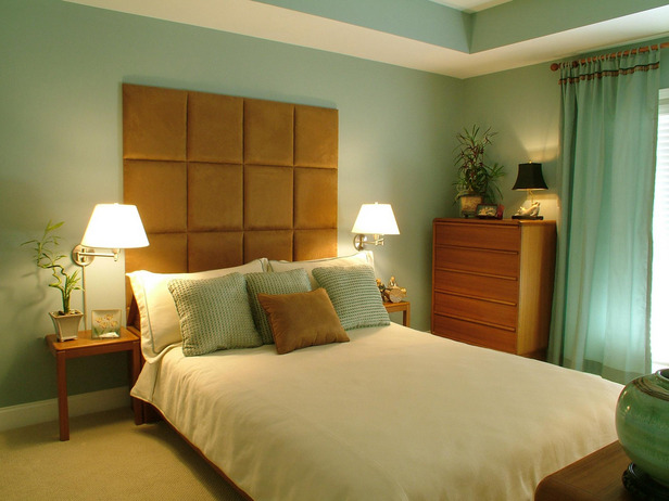 brown headboard