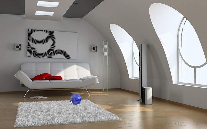 high tech modern living room