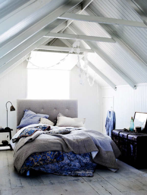 attic teen bedroom with natural light