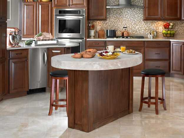 oval shpae kitchen island