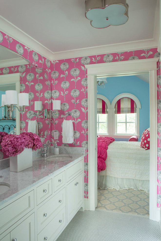 Best teenage girls bedroom wallpaper designs for Teen girl bathroom ideas
