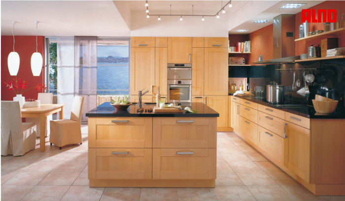 brown wood kitchen