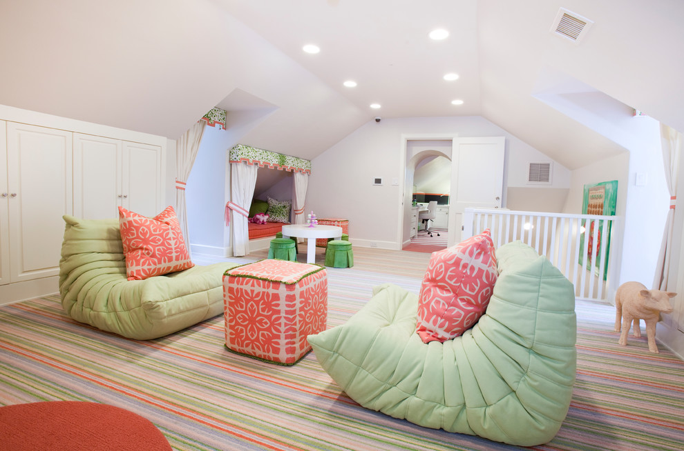 teen bedroom space in attic