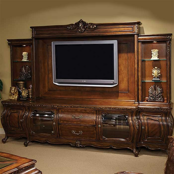 walnut Victorian style entertainment unit