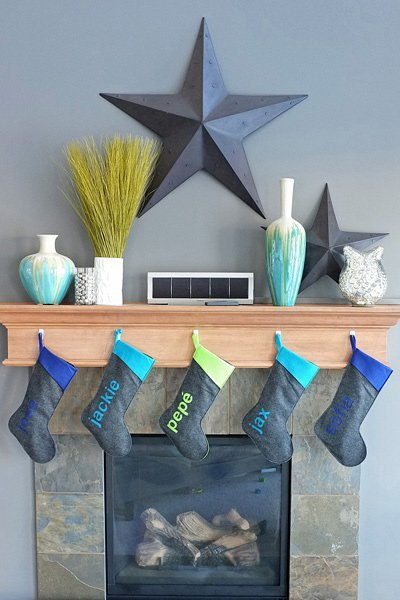 Teal Colored Stocking