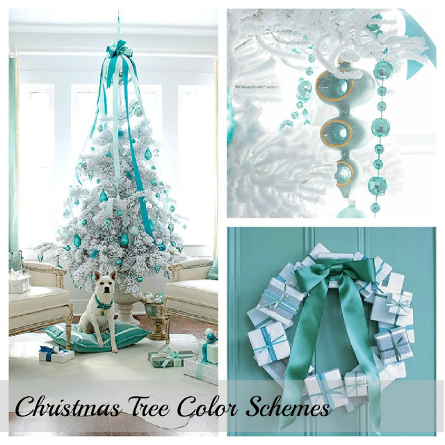 White and Turquoise Christmas Decor
