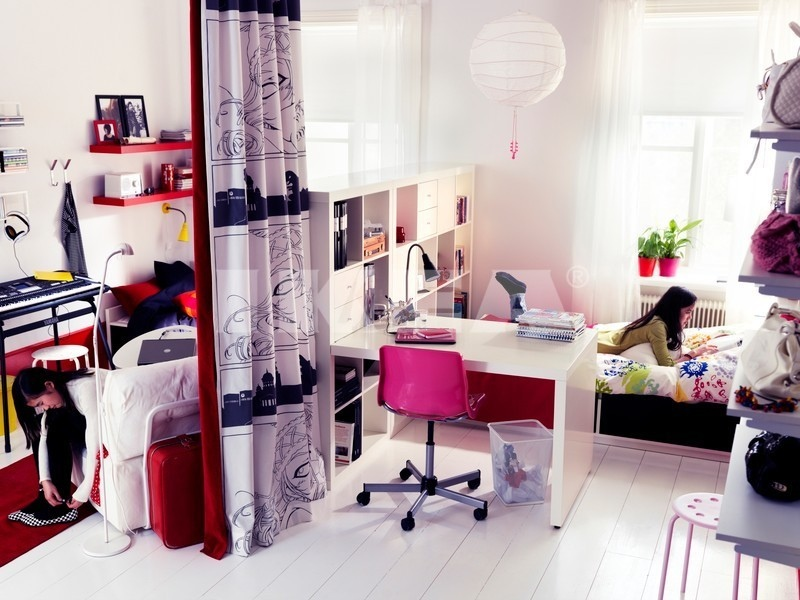 Cool bedroom ideas for girls - Pink and white teenage room ...