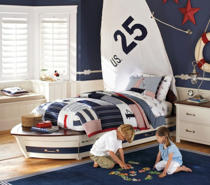 White And Blue kid's Bedroom - Copy