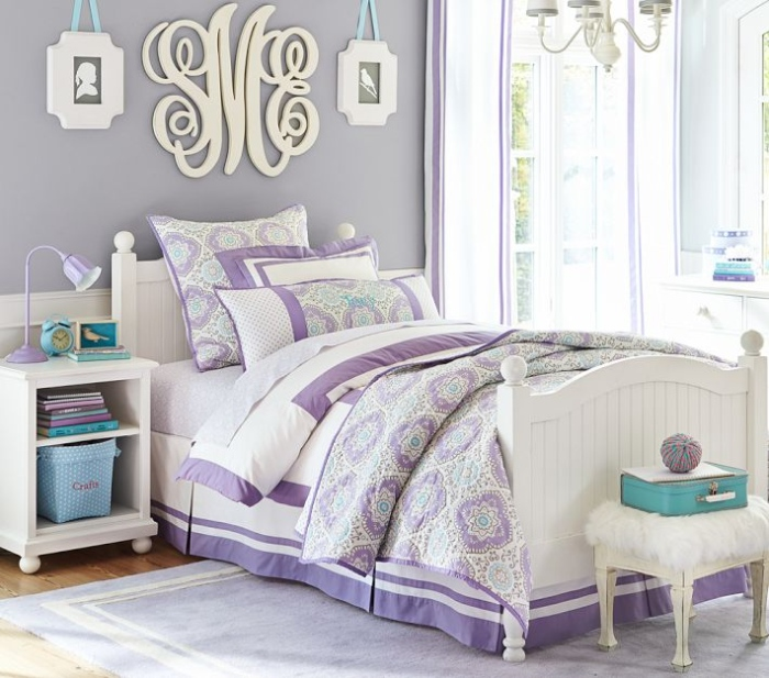 White And Purple Kid's Bedroom