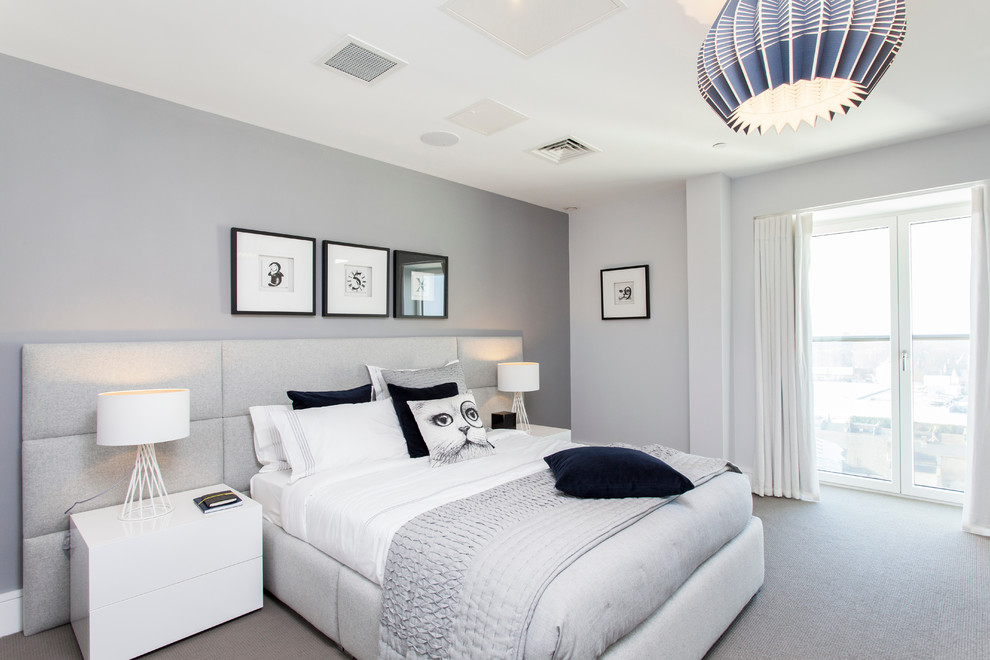 decorating ideas for a small bedroom On light grey bedroom