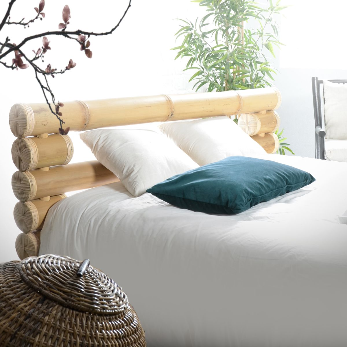 modern bamboo headboard ideas