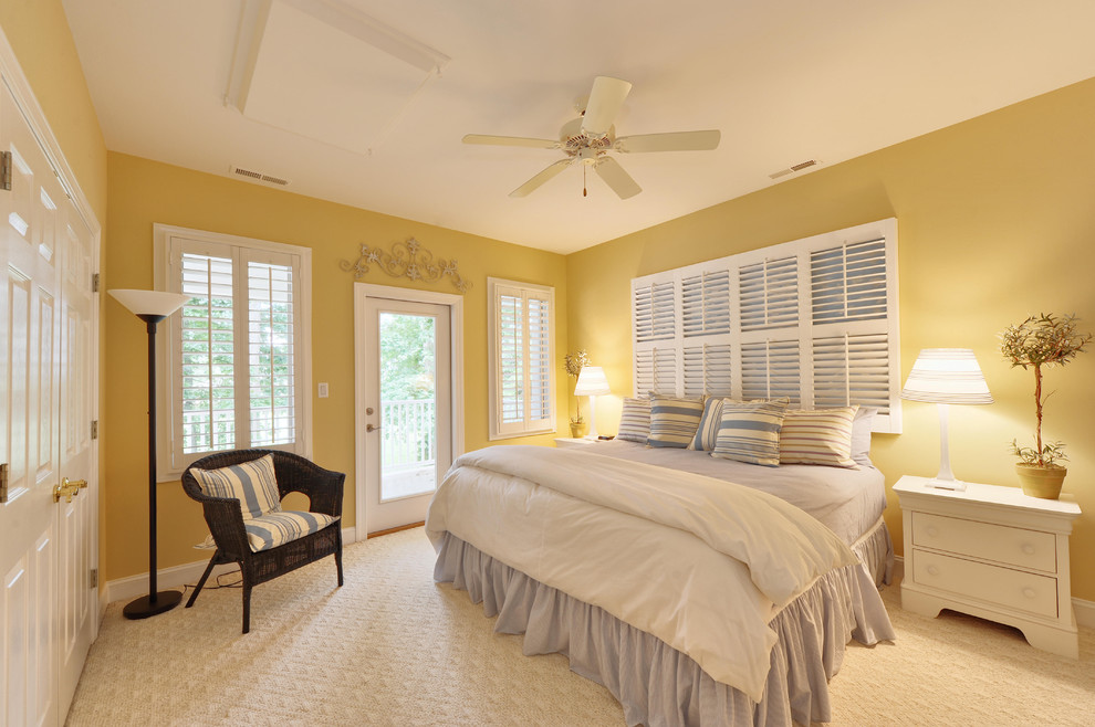 great idea for shutters headboard and lighting