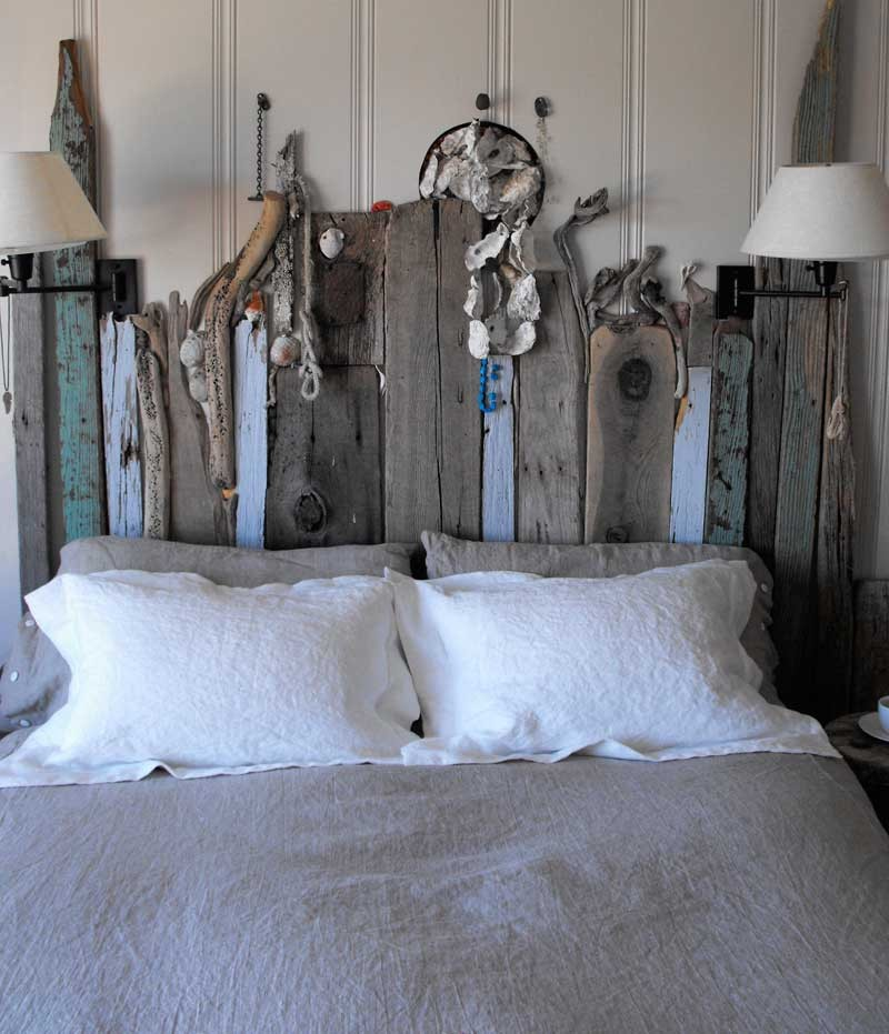 drift wood headboard idea