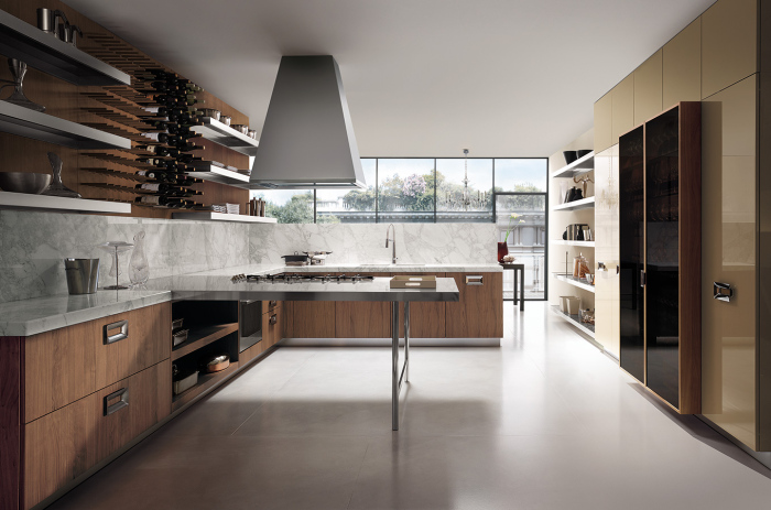 Contemporary-kitchen-with-a-modern-Italian-kitchen-working-table-idea
