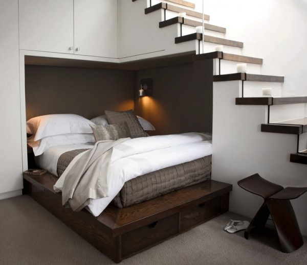 Understair Double Bed