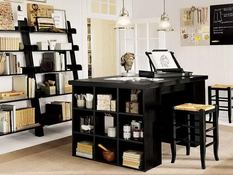 Lovely Black Colored Office Desk