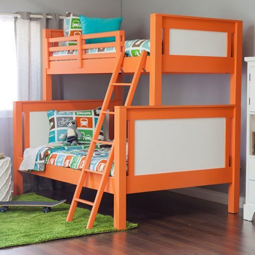 Stylish Bright Orange Colored Bunk Bed