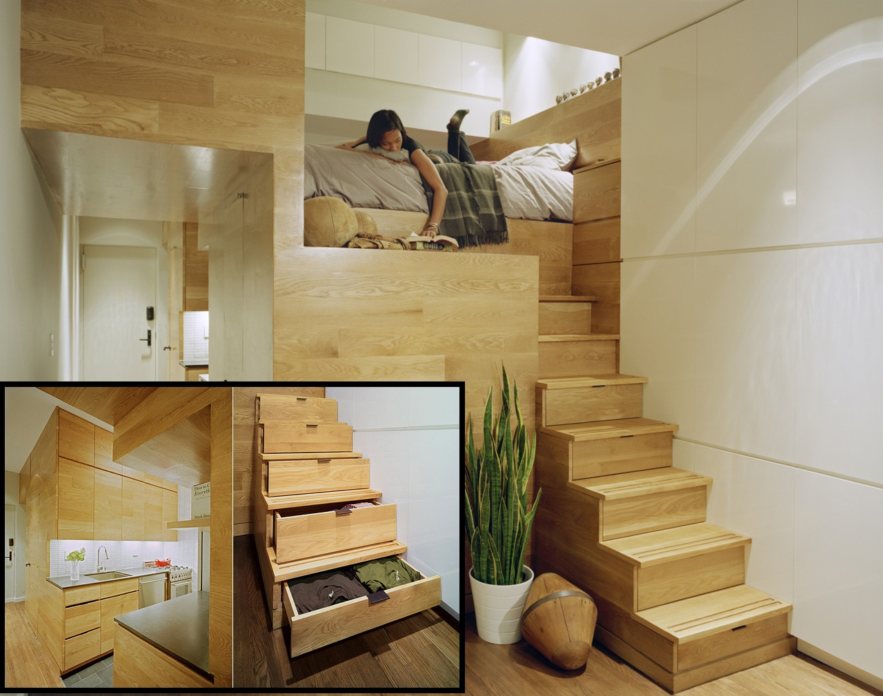 Elevated Loft Space Saver Bedroom