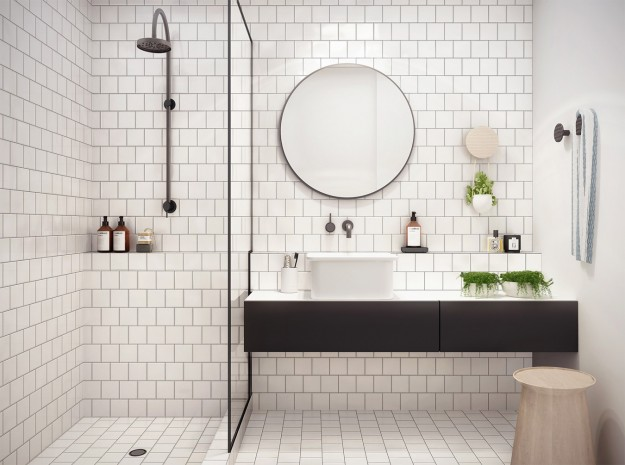 Fantastic White Colored Subway Tile