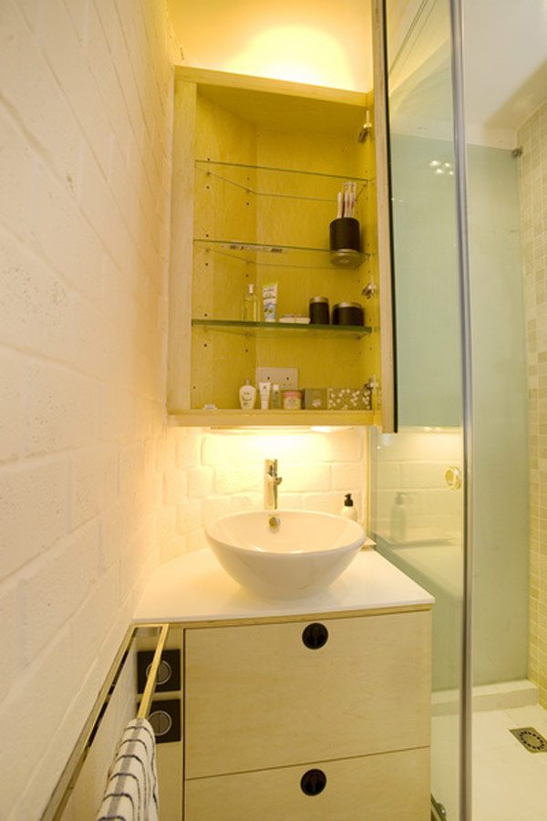 Interesting tile ideas for the small bathroom for Small square bathroom designs