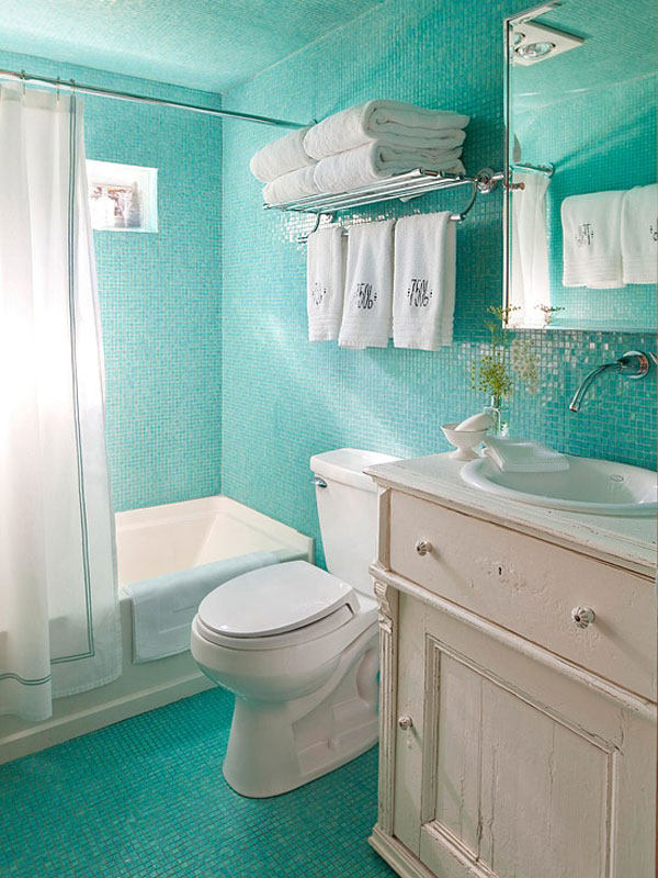 Green Colored Bathroom