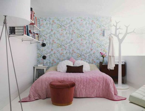 White Tree Design Rack Bedroom