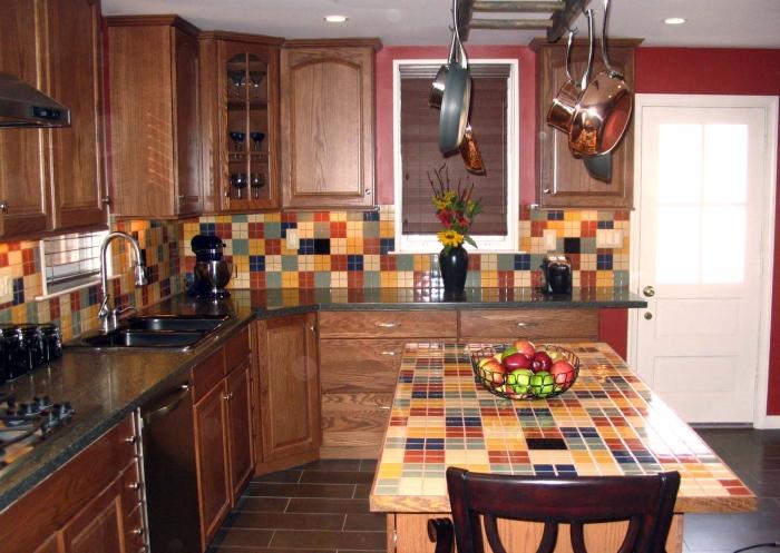 Multicolored Checkered Design