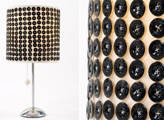 Fantastic Button Lampshade