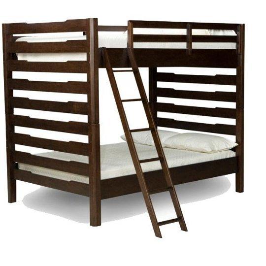 Dark Wood Bunk Bed
