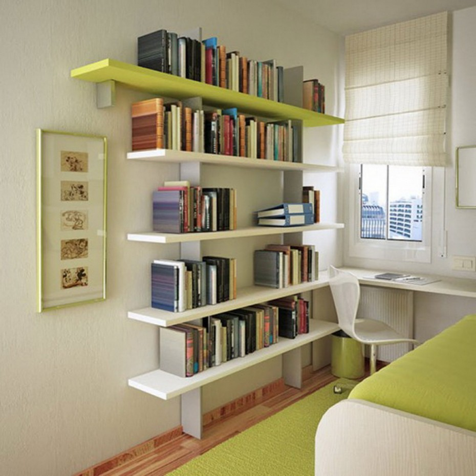 10 stylish space saving ideas for the small bedroom - Small bookcases for small spaces design ...