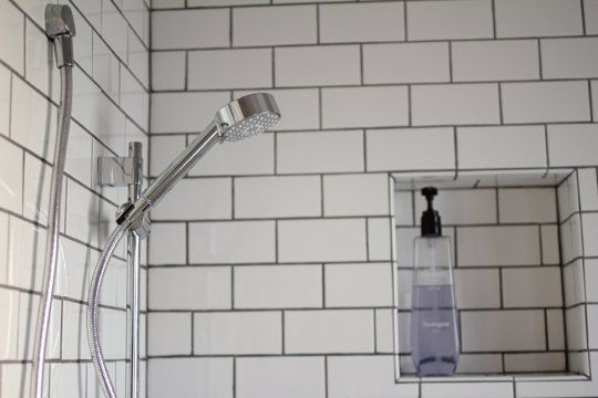 Gray Grout Outline Subway Tile