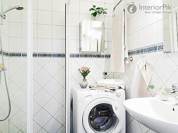 Flat Small Apartment Bathroom Tile Decorative