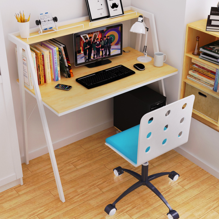 Modern home office desk design for Two tier desk ikea