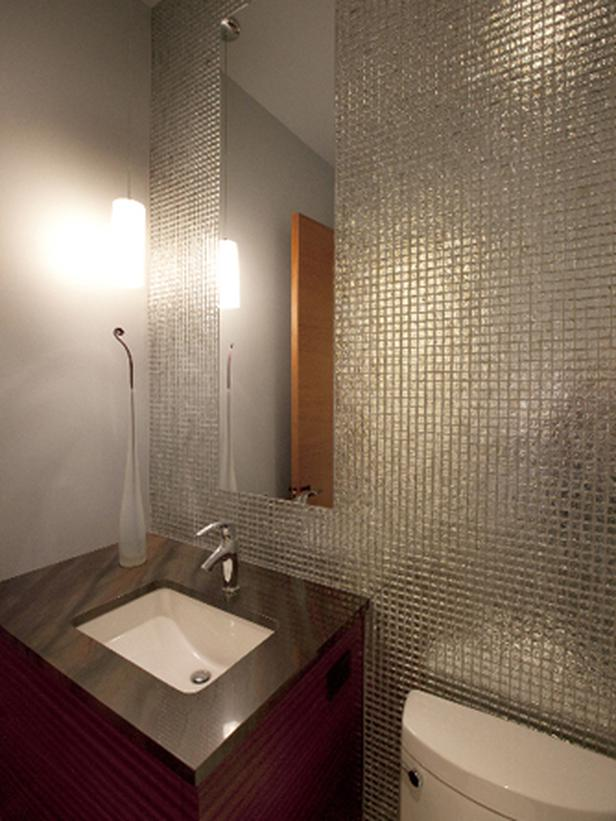 Mirrored Tile Bathroom