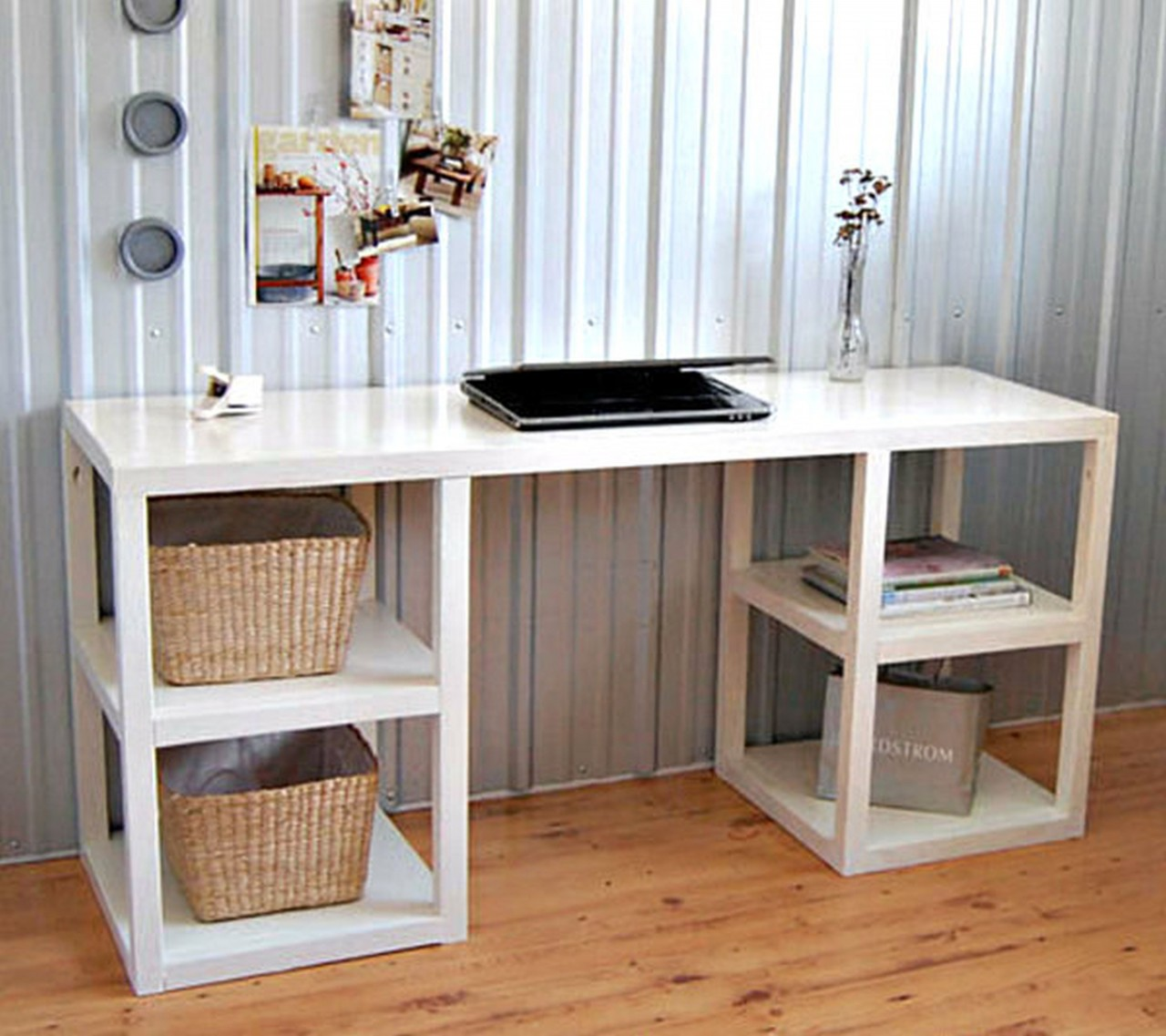 Elegant White Home Office Desk