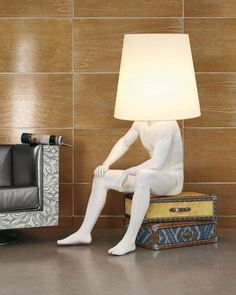 Human Statue Lamp