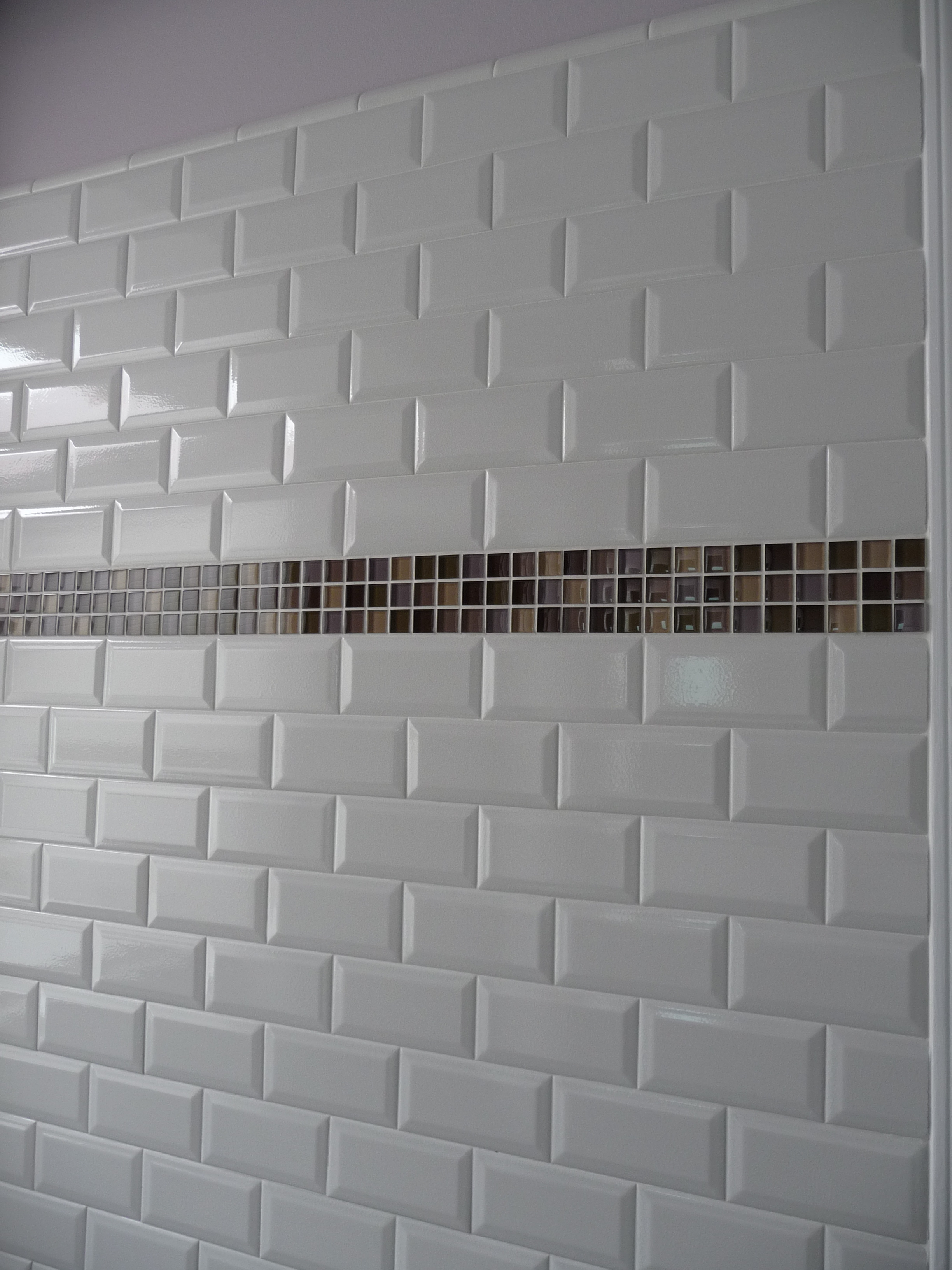 mosaic designed subway tile