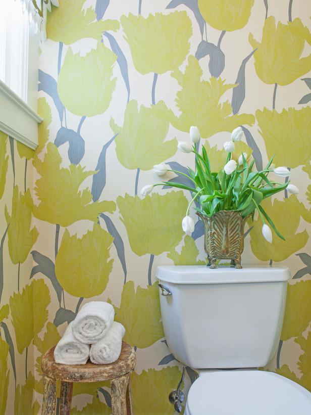 Anastasia Faiella Bathroom Floral Wallpaper