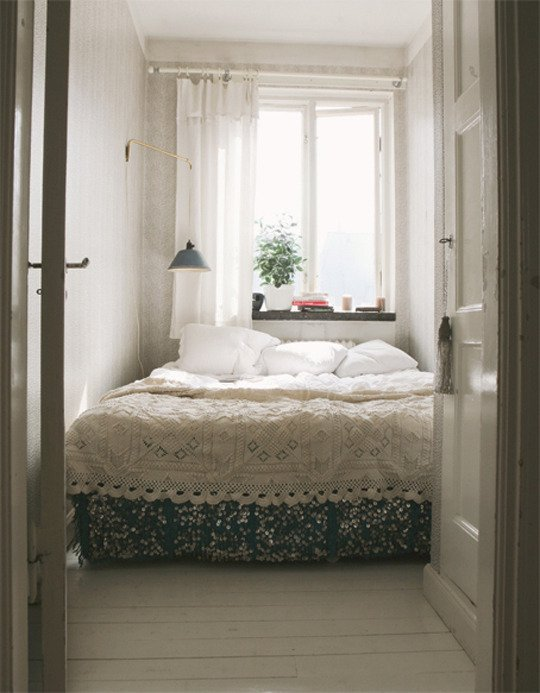 Bed Against Window Concept
