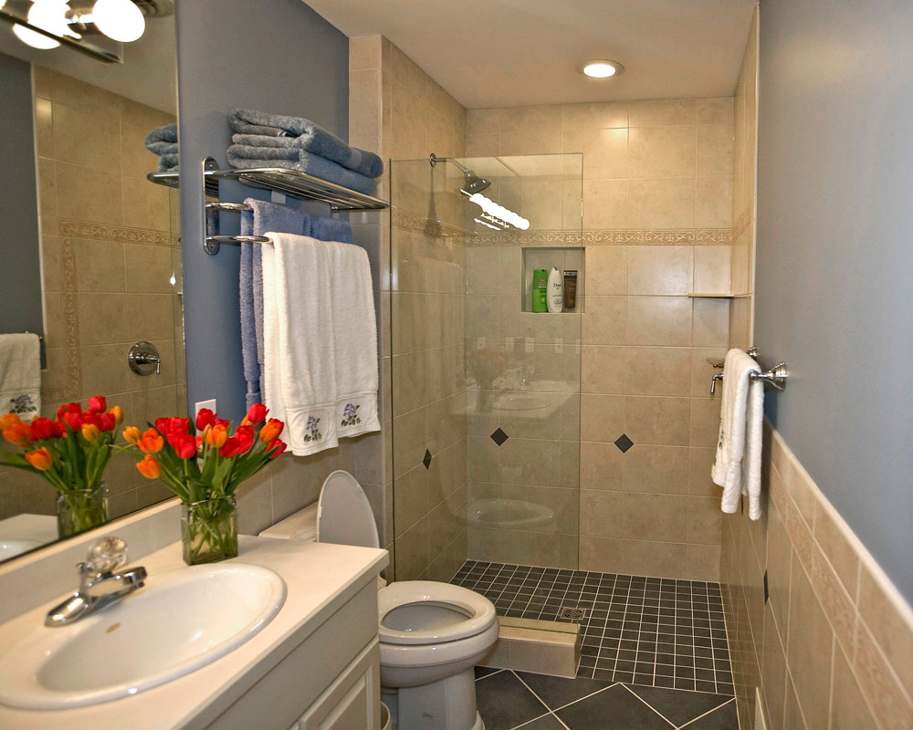 Creating amazing small bathrooms for Images of bathroom tile ideas