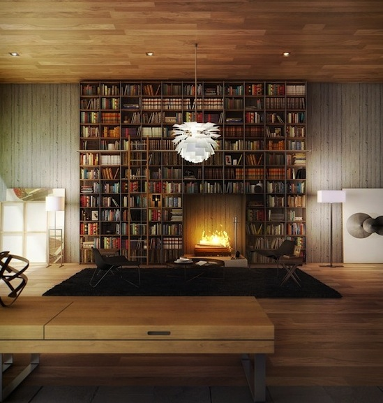 Modern Home Library Design Ideas: Charming And Organized Home Library