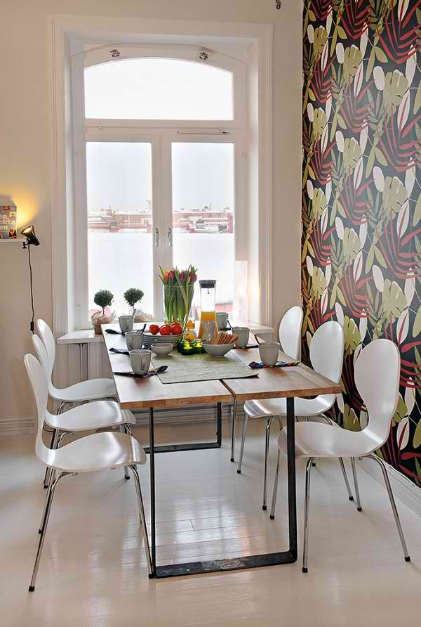 Classic Neat Family Apartment Interior Dining Room