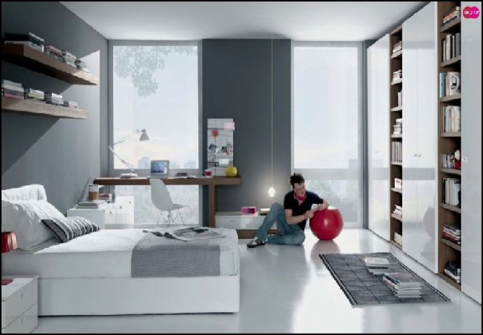 Inspirational Grey White Furniture Teen Bedroom