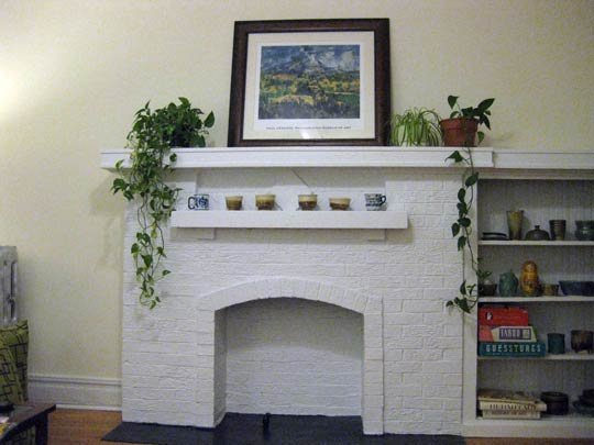 White Fireplace Concept