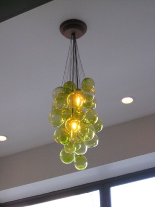 Green Bubbles Floating Lamp Design