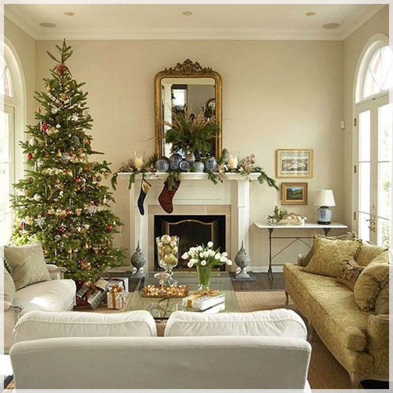Simple Christmas Decoration Living Room