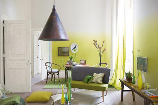 Unique Grey and Green Sofa Design