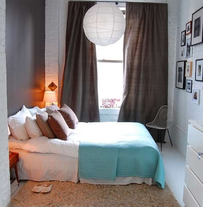 Brown and White Walls Combination